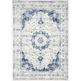 Vintage Lindsay Persian Blue 8 ft. x 11 ft. Indoor Area Rug