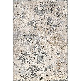 Contemporary Motto Abstract Beige 9 ft. x 12 ft. Indoor Area Rug