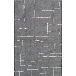Contemporary Abstract Vivian Grey 9 ft. x 12 ft. Indoor Area Rug