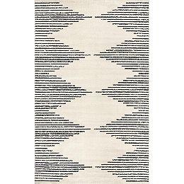 Romina Diamond Stripes Grey 9 ft. x 12 ft. Indoor Area Rug