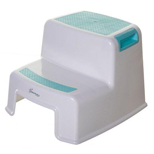 2-Up Step Stool - Aqua/White