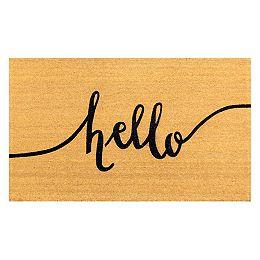 Helix 3 ft x 5 ft Hello Coir Door mat