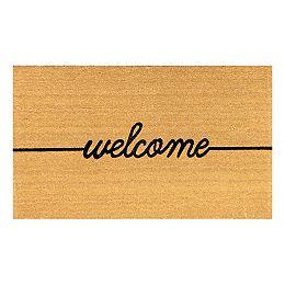 Helix 3 ft x 5 ft Welcome Coir Door mat