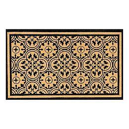 Helix 3 ft x 5 ft Modern Coir Door mat