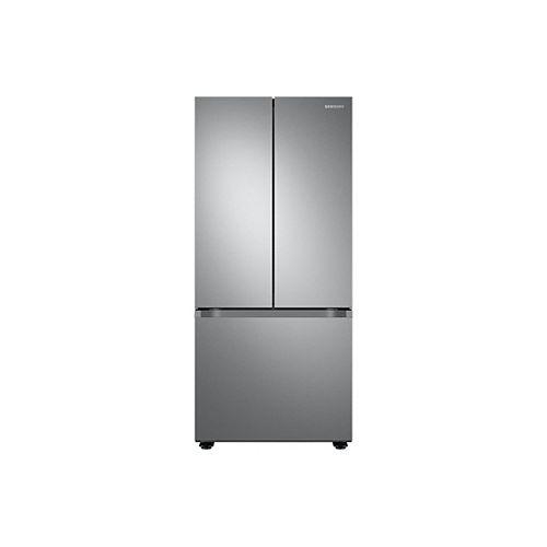 30 pouces W 21,8 pi.cu. Réfrigérateur à porte française avec machine à glaçons dans le congélateur en acier inoxydable