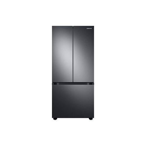 30 pouces W 21,8 pi.cu. Réfrigérateur à porte française avec machine à glaçons dans le congélateur en acier inoxydable noir
