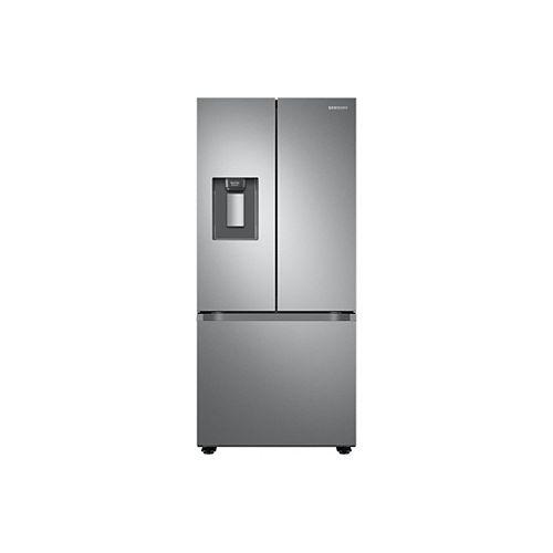 30 pouces W 21,8 pi.cu. Réfrigérateur à porte française avec distributeur de glaçons et d'eau en acier inoxydable