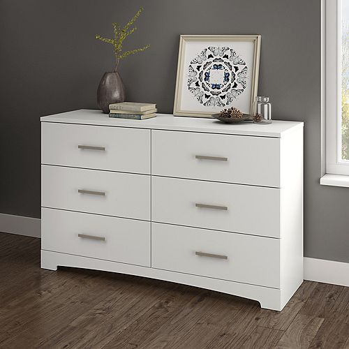 Gramercy Dresser 51.25 pouces x 19 pouces x 31.25 pouces Laminated Particleboard in Pure White/White