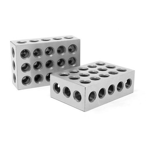 Cales étalons de précision en acier trempé de calibre 1-2-3 de 3 po x 2 po x 1 po (jeu de 2)