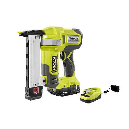 18V ONE+ AirStrike 18-Gauge Cordless Narrow Crown Stapler Kit with 1.5 Ah Battery and Charger