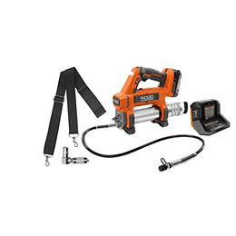 18V Lithium-Ion Cordless Grease Gun Kit with 2.0 Ah Battery and Charger