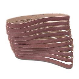 320-Grit 1/2 in. x 18 in. Sanding Belt Sandpaper (10-Pack)
