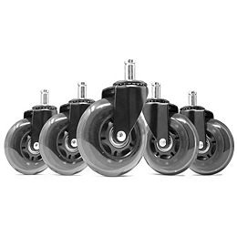 3 in. Polyurethane Replacement Office Chair Swivel Caster Wheels (5-Pack)