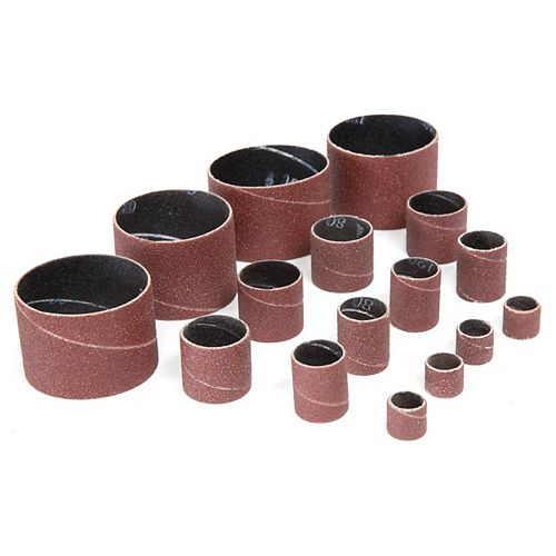 16-Piece Replacement Sanding Drum Sandpaper Kit Assorted Grits