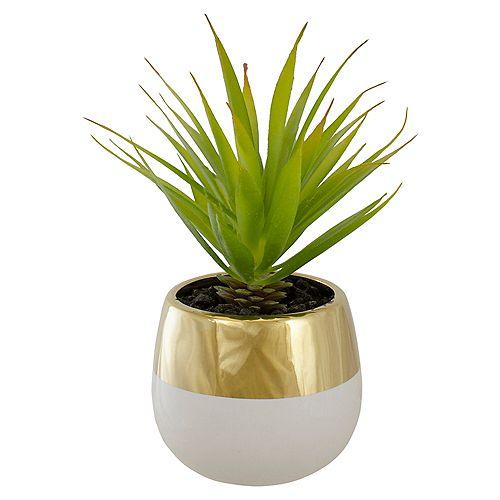 Plante d'herbe d'épée artificielle artificielle verte en pot en pot
