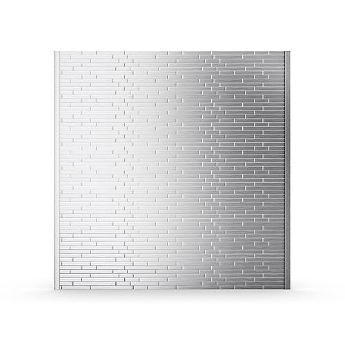 Linox Stainless Steel 29.61 in. x 30.75 in. x 5 mm Self-Adhesive Range Backsplash Mosaic Tile