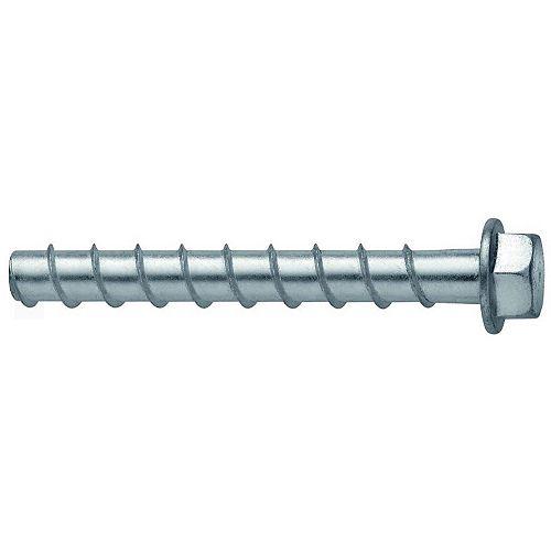 Vis d'ancrage de 5/8 po x 8 po. à revêtement anticorrosion Kwik Hus EZ pour béton et maçonnerie (15)