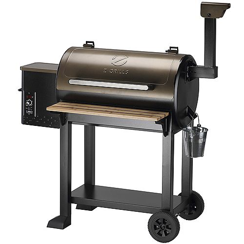 553 sq. in. Pellet Grill and Smoker , Black
