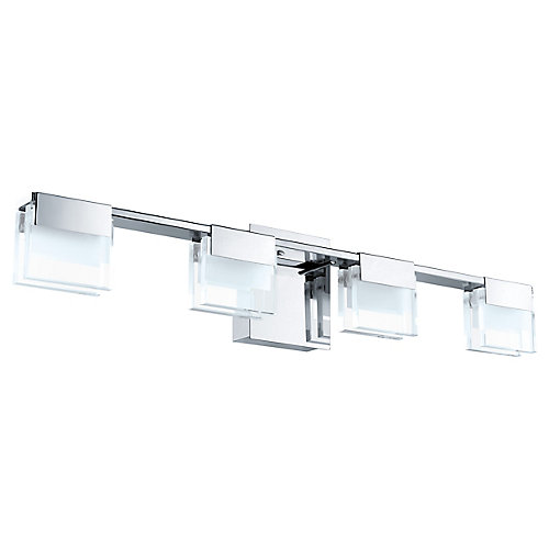 Vicino 4-Light LED Wall Light in Chrome Finish with Clear and Frosted Glass - ENERGY STAR®
